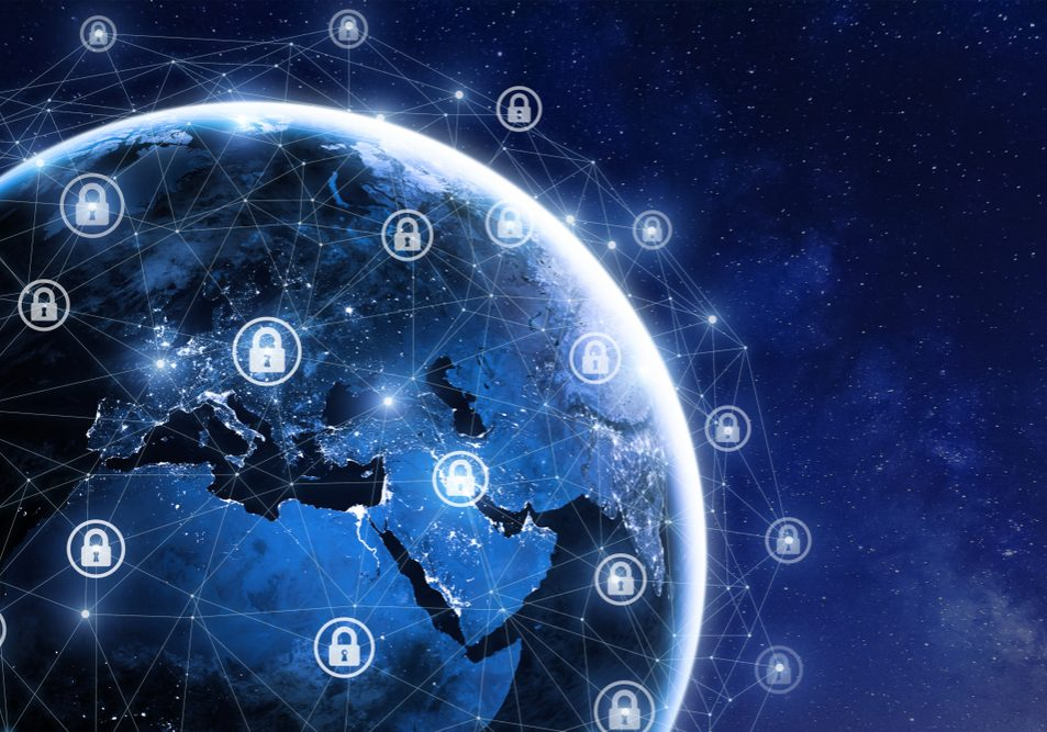 Cybersecurity,And,Global,Communication,,Secure,Data,Network,Technology,,Cyberattack,Protection